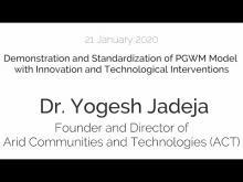Seminar by Dr Yogesh Jadeja
